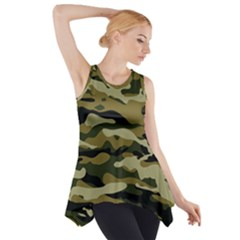 Military Vector Pattern Texture Side Drop Tank Tunic