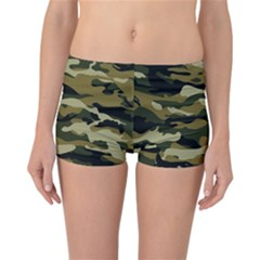 Military Vector Pattern Texture Reversible Boyleg Bikini Bottoms