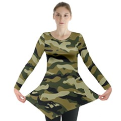 Military Vector Pattern Texture Long Sleeve Tunic