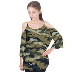 Military Vector Pattern Texture Flutter Tees
