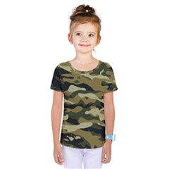 Military Vector Pattern Texture Kids  One Piece Tee