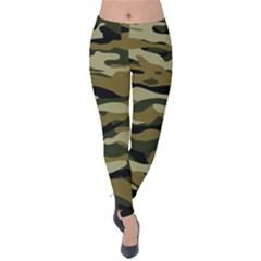 Military Vector Pattern Texture Velvet Leggings