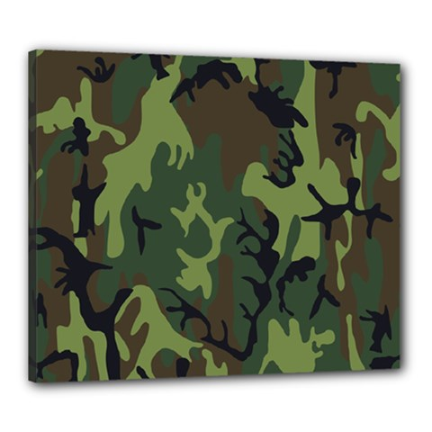 Military Camouflage Pattern Canvas 24  x 20