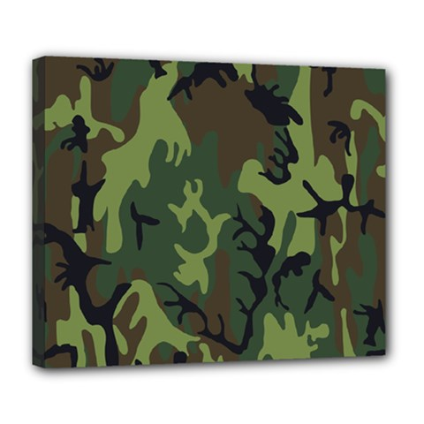 Military Camouflage Pattern Deluxe Canvas 24  X 20