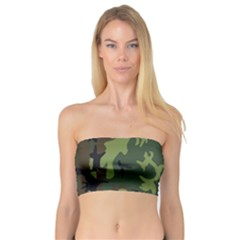 Military Camouflage Pattern Bandeau Top
