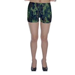 Military Camouflage Pattern Skinny Shorts