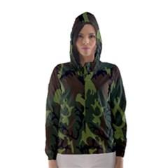 Military Camouflage Pattern Hooded Wind Breaker (Women)