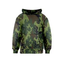 Military Camouflage Pattern Kids  Pullover Hoodie