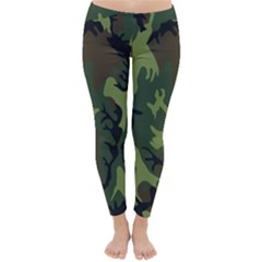 Military Camouflage Pattern Classic Winter Leggings