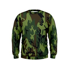 Military Camouflage Pattern Kids  Sweatshirt
