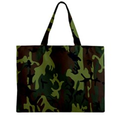 Military Camouflage Pattern Zipper Mini Tote Bag