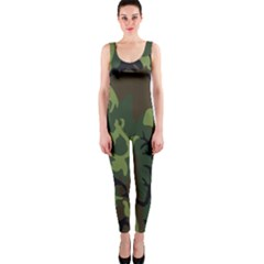 Military Camouflage Pattern OnePiece Catsuit