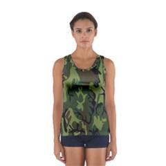 Military Camouflage Pattern Women s Sport Tank Top