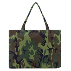 Military Camouflage Pattern Medium Zipper Tote Bag