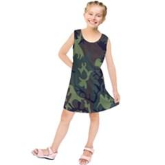 Military Camouflage Pattern Kids  Tunic Dress