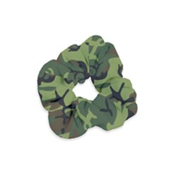 Military Camouflage Pattern Velvet Scrunchie
