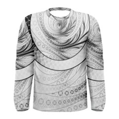 Enso, a Perfect Black and White Zen Fractal Circle Men s Long Sleeve Tee
