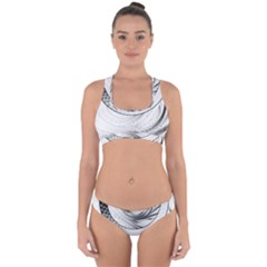 Enso, A Perfect Black And White Zen Fractal Circle Cross Back Hipster Bikini Set