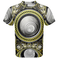 A Cautionary Fractal Cake Baked for GlaDOS Herself Men s Cotton Tee