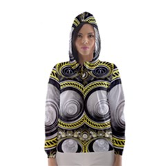 A Cautionary Fractal Cake Baked for GlaDOS Herself Hooded Wind Breaker (Women)