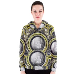 A Cautionary Fractal Cake Baked for GlaDOS Herself Women s Zipper Hoodie