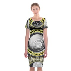A Cautionary Fractal Cake Baked for GlaDOS Herself Classic Short Sleeve Midi Dress