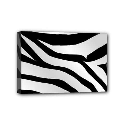 White Tiger Skin Mini Canvas 6  X 4