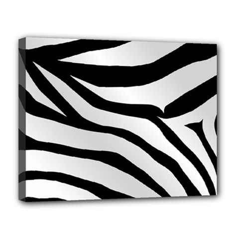 White Tiger Skin Canvas 14  x 11