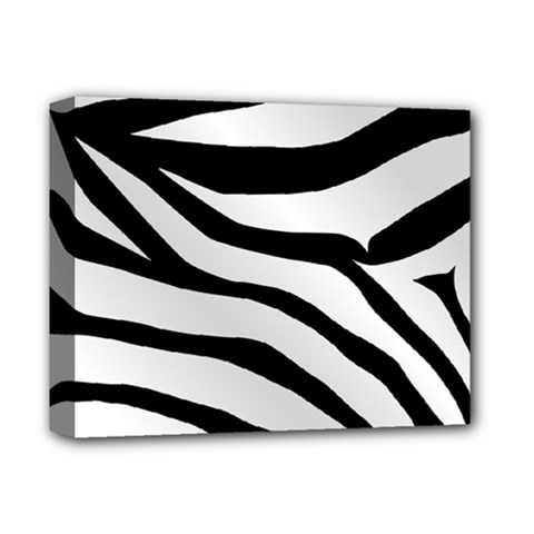 White Tiger Skin Deluxe Canvas 14  x 11