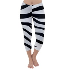 White Tiger Skin Capri Winter Leggings