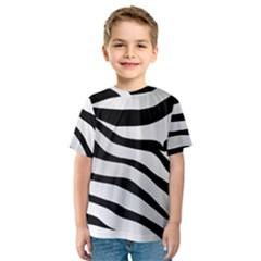 White Tiger Skin Kids  Sport Mesh Tee