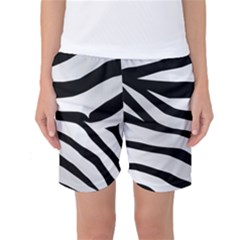 White Tiger Skin Women s Basketball Shorts