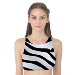 White Tiger Skin Tank Bikini Top