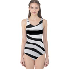 White Tiger Skin One Piece Swimsuit