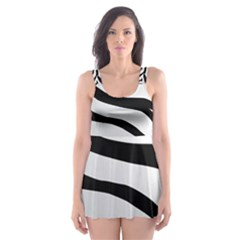 White Tiger Skin Skater Dress Swimsuit