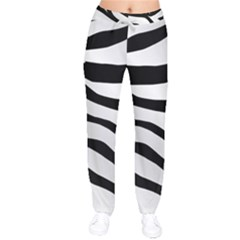 White Tiger Skin Drawstring Pants