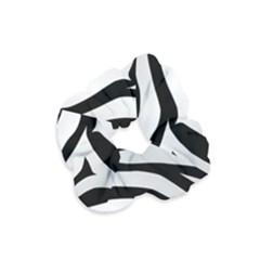 White Tiger Skin Velvet Scrunchie