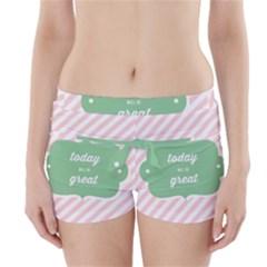 Today Will Be Great Boyleg Bikini Wrap Bottoms