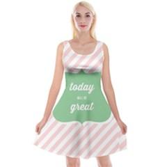 Today Will Be Great Reversible Velvet Sleeveless Dress