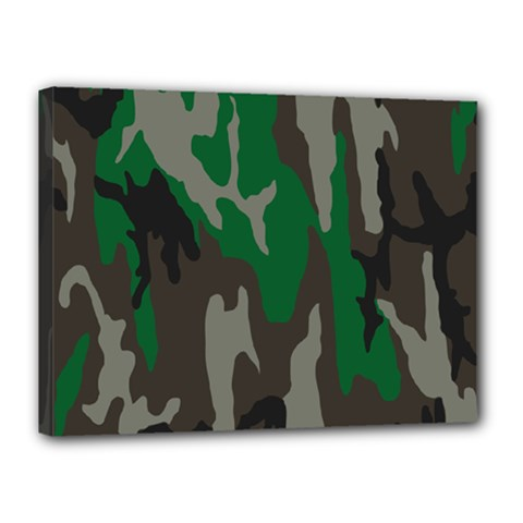 Army Green Camouflage Canvas 16  x 12