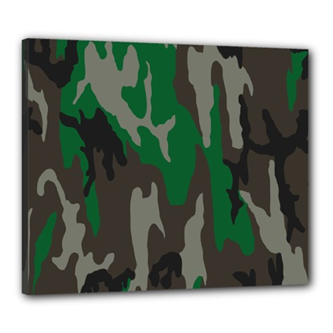 Army Green Camouflage Canvas 24  x 20
