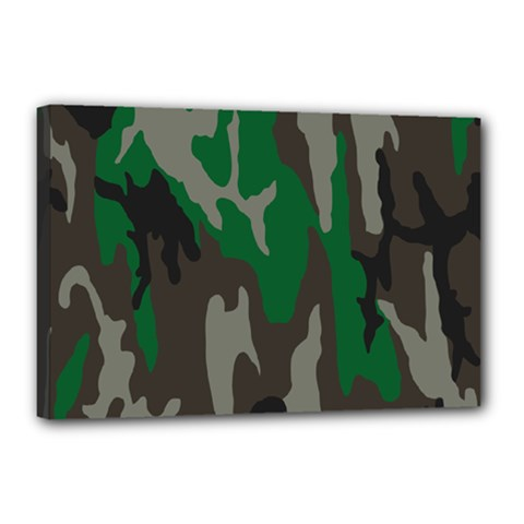 Army Green Camouflage Canvas 18  x 12
