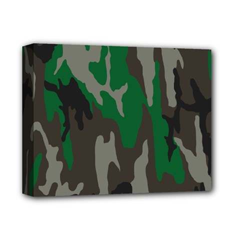 Army Green Camouflage Deluxe Canvas 14  X 11