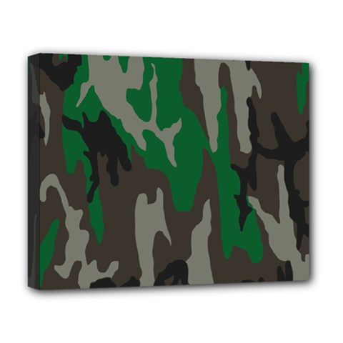 Army Green Camouflage Deluxe Canvas 20  x 16