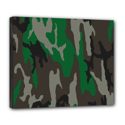 Army Green Camouflage Deluxe Canvas 24  X 20