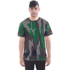 Army Green Camouflage Men s Sports Mesh Tee