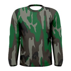 Army Green Camouflage Men s Long Sleeve Tee