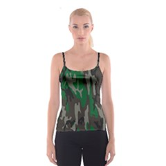 Army Green Camouflage Spaghetti Strap Top