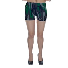 Army Green Camouflage Skinny Shorts