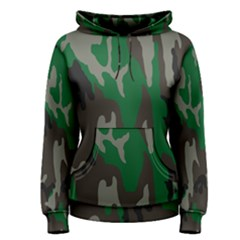Army Green Camouflage Women s Pullover Hoodie